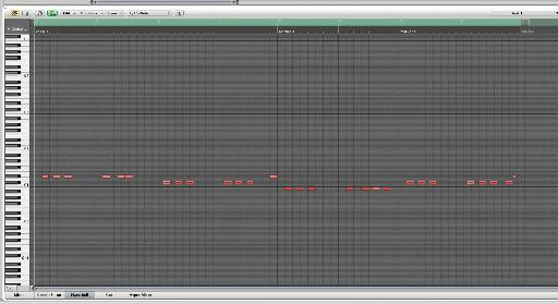 A simple bass part is programmed