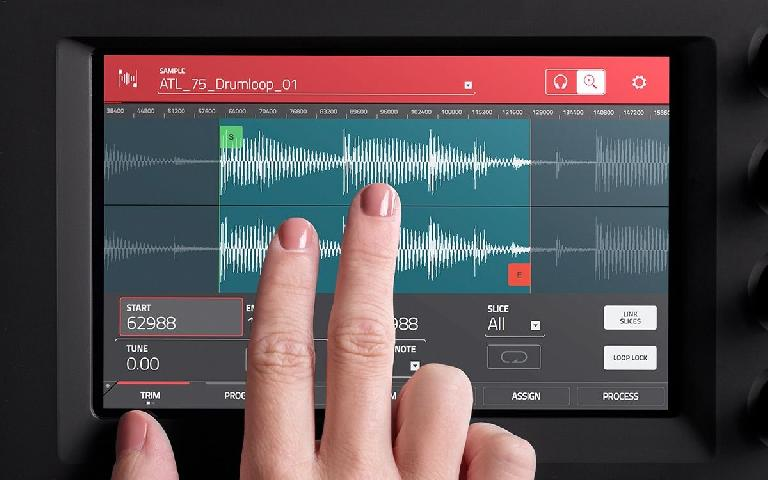 We're interested to see how easy it is to edit samples on the MPC Touch's multi-touch display