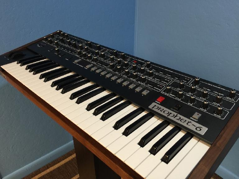 The Sequential Prophet 6 synth in all its glory.