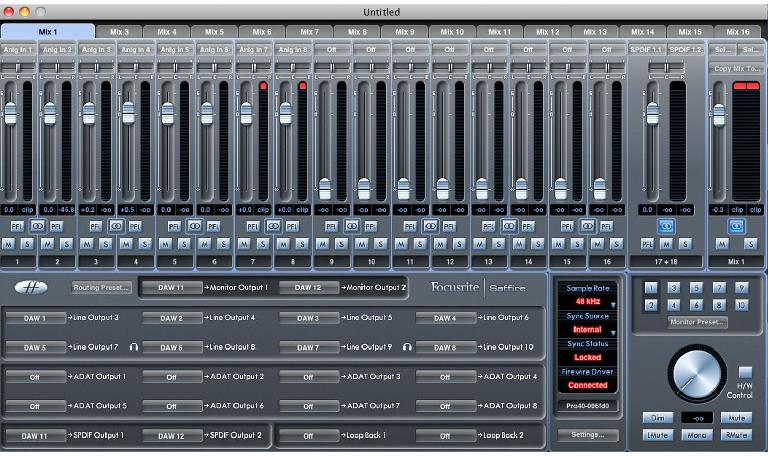 Focusrite Mixer
