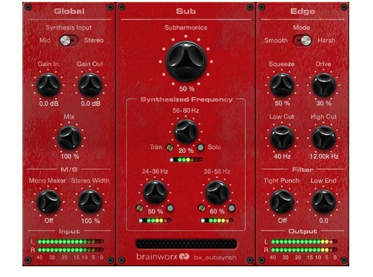 Brainworx bx_subsynth Subharmonic Synthesizer