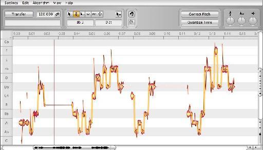 Audio in Melodyne