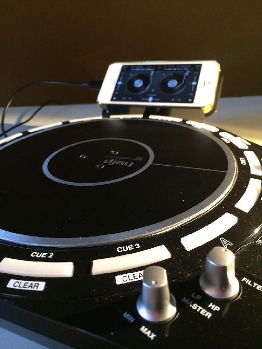 Casio Trackformer XW-DJ1 scratch platter.
