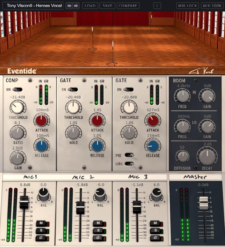 Eventide's Tverb interface.