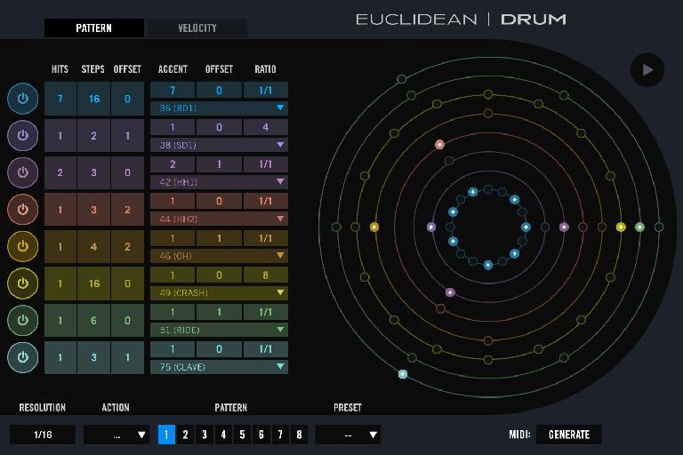 UVI Falcon 2 Euclidian Drum