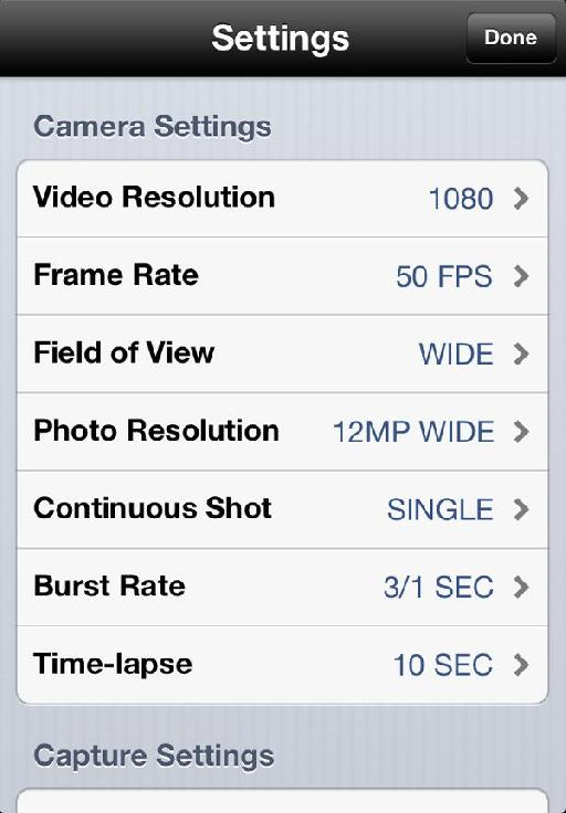 Just some of the settings you can change much more easily through the app.