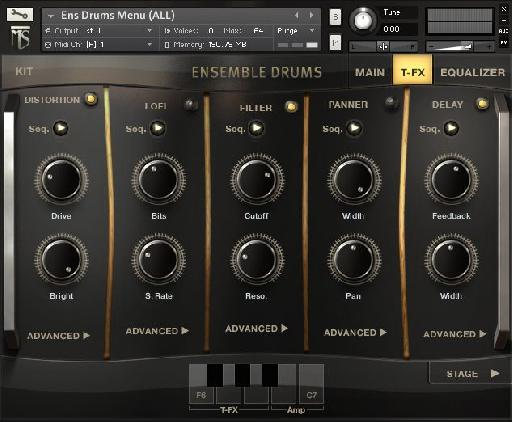 In addition to the custom sound '˜warping' options, there is a whole host of traditional effects as well.