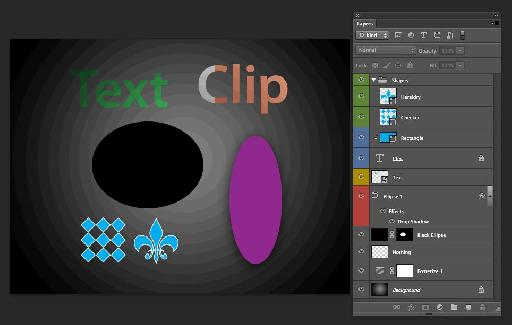 Layer styles, Clipping, Blend Modes and Groups.