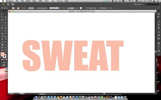 Sweat text.