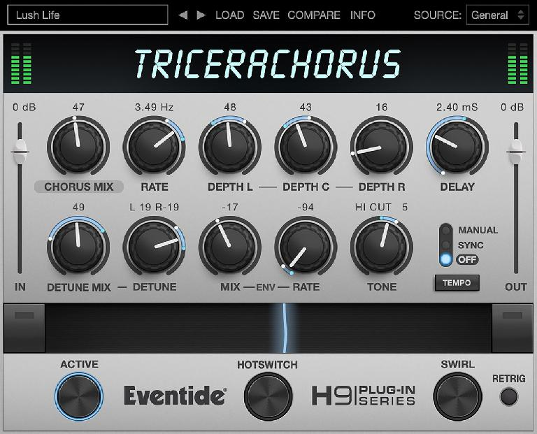 Eventide Tricerachorus plugin for desktop