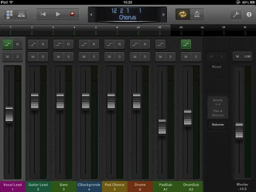 Change Mixer view to 'Volume'.