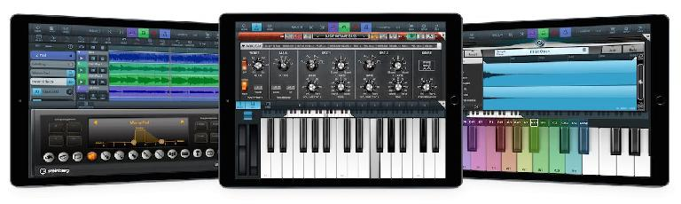 Some of the new instruments included with Cubasis 1.9.8