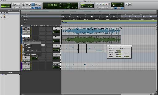 Elastic audio in Pro Tools