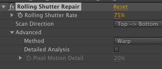Rolling Shutter Repair