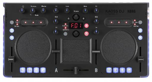 The new Korg KAOSS DJ - easy on the eye, but fully featured too.
