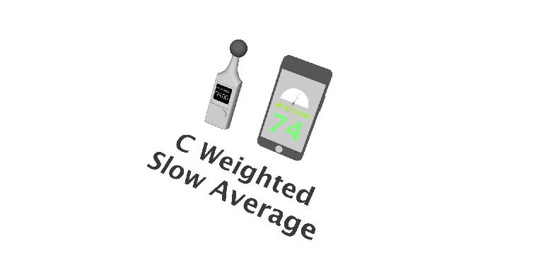 SPL Meter and App C weighting Slow Average