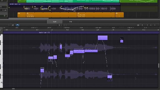 Flex Pitch at work in the new Audio Track Editor.