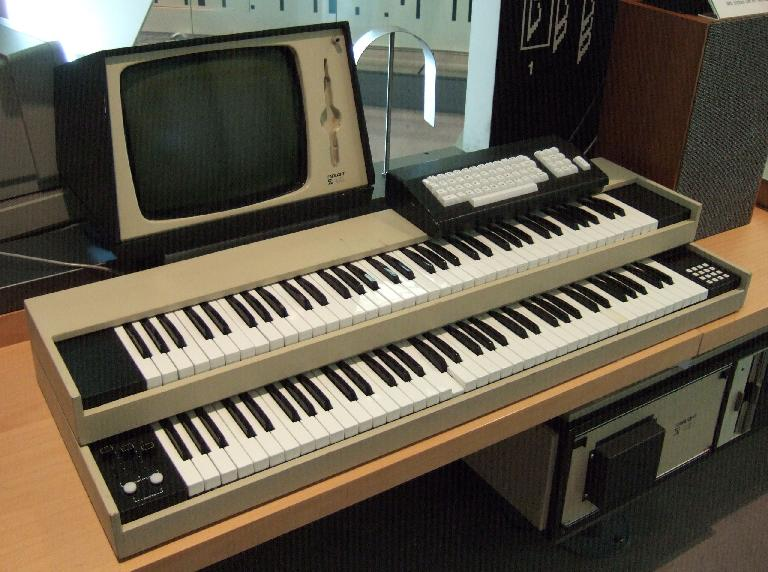 The original Fairlight CMI from 1979. The light pen appeared in later models.