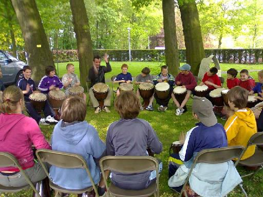 Drum Circle in Action (source: Wikipedia)