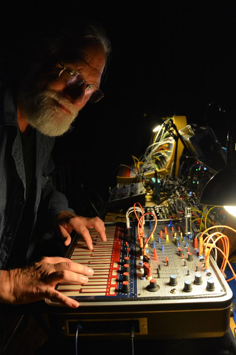 Todd Barton with Buchla Music Easel.