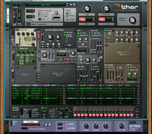 The synth patch with added noise.
