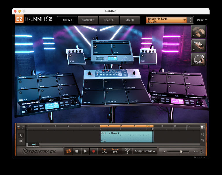 Toontrack EZDrummer Electronic Edge Expansion 1