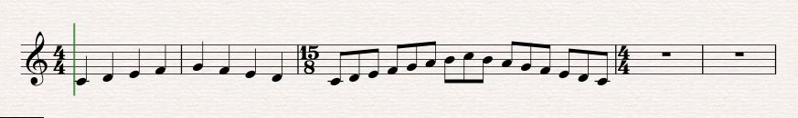 notate in free rhythm 1c