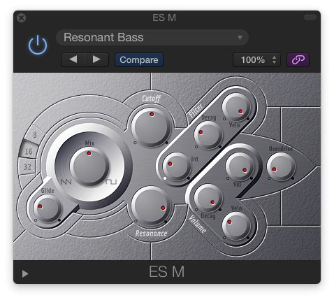 The ES M is a simple mono analog-style synth.