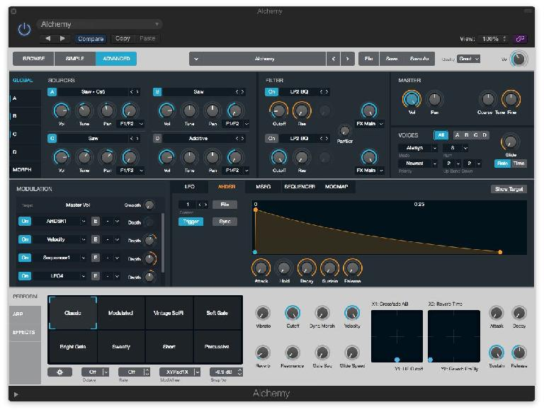 The most recent addition to  Logic Pro is Alchemy. It's a monster synth!