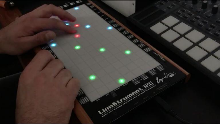LinnStrument 2.1.0 BETA 2 in action.