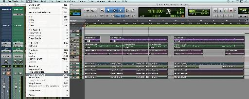 (Fig 3) Pro Tools Edit Menu