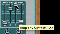 Increase sustain in Subtractor 2 Amp envelope