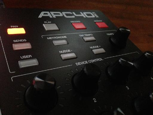 AKAI APC40 MKII Device settings.
