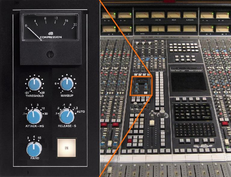 "Fig 5 SSL's Master Buss Compressor—""The Glue""—from the 4000G-series consoles"