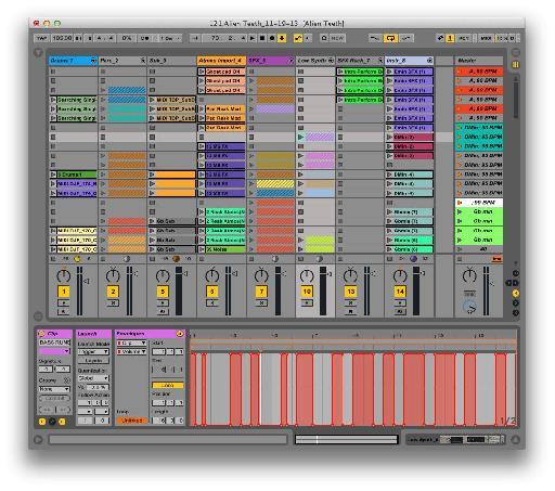 An example Ableton Live setup.
