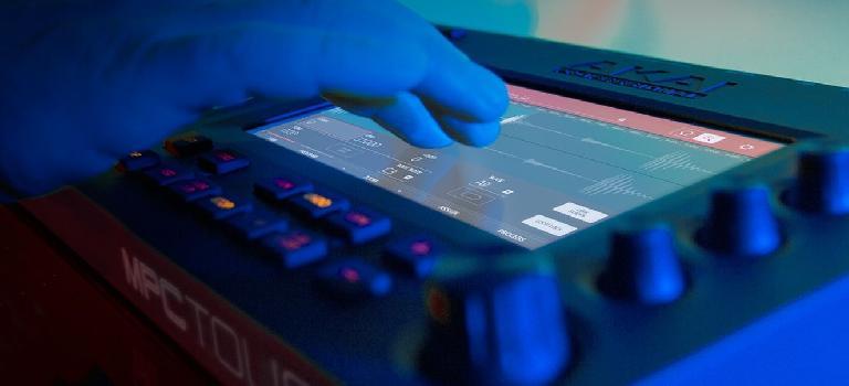 Akai Pro MPC Touch close up