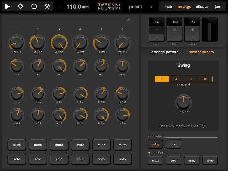 Elastic Drums Mixer.
