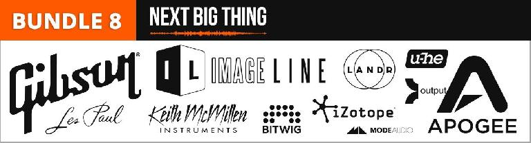 Bundle 8 - Next Big Thing - Gibson, Image Line, u-he, Output, Keith McMillen, Bitwig, iZotope, ModeAudio, Apogee