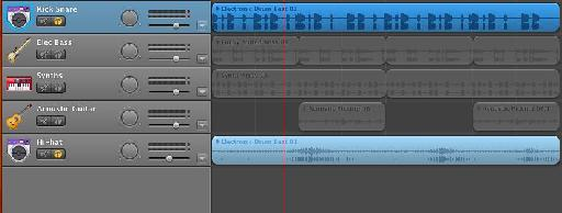 Levels and panning in GarageBand