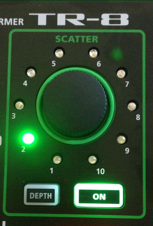 Adding some scatter effects with the TR-8