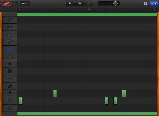 Kick and snare pattern in Garageband