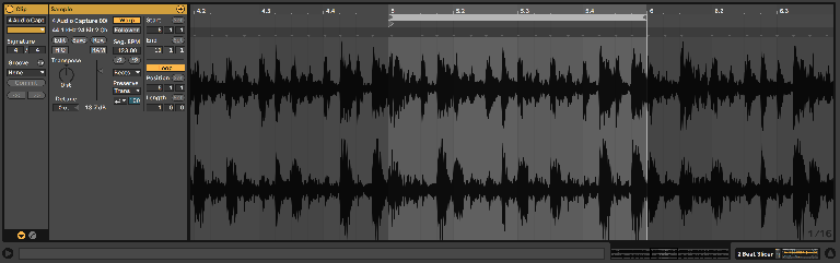 Resulting captured and looped audio.