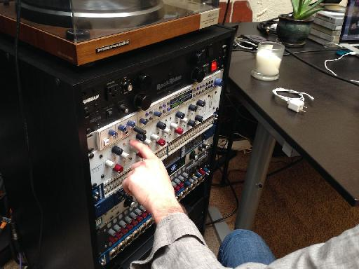 Adjusting levels on the Neve Master Bus Compressor
