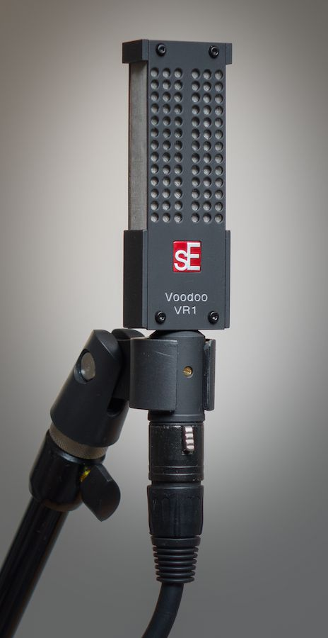 *Figure 2. The sE Electronics Voodoo VR1 with included hard mount. (Not pictured: included shock mount.)