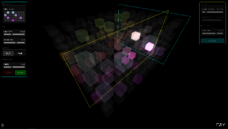 Threequencer prototype screenshot 2