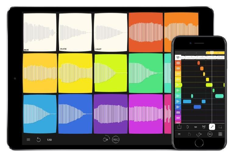 Samplebot on iPad and iPhone.