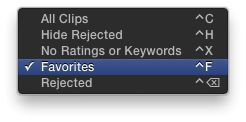 Mark the good parts as Favorites to remember them, then choose this option to see only the good parts.