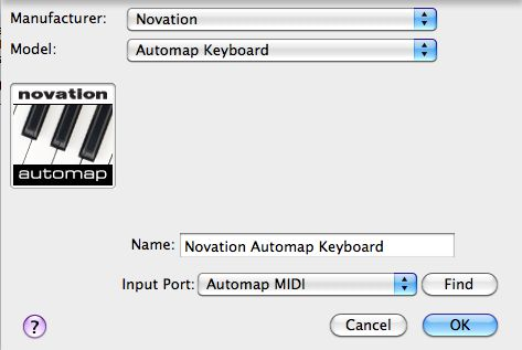 Select the Automap keyboard