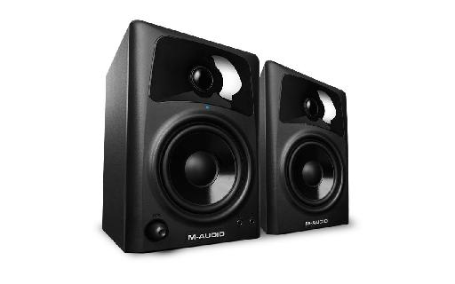 A pair of M-Audio AV42's in all their glory.