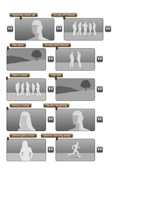 A simple storyboard, ready to print...